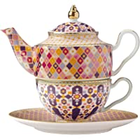Maxwell & Williams Teas & C's Kasbah Tea For One Théière et tasse avec infuseur dans une boîte cadeau Porcelaine Rose…