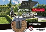 Platinum DeLuxe Bodenanker auch für Ampelschirme, kein Beton nötig