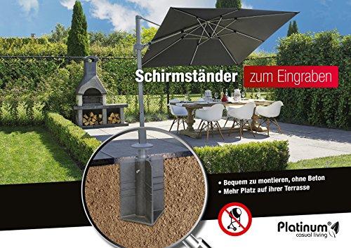 eindreh bodenhuelse Platinum DeLuxe Bodenanker auch für Ampelschirme, kein Beton nötig