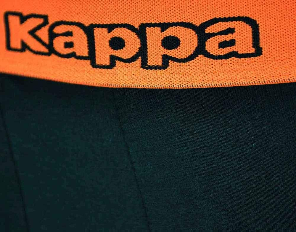 Kappa 4X Logo Boxer Short Hombre Boxershorts 4 Piezas Calzoncillos Negro/Naranja