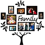 Paper Plane Design 13-Piece Family Tree Set in Black D4
