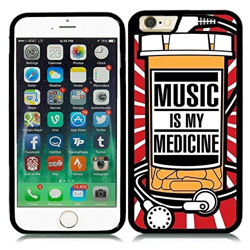 IPHONE 6 4.7` CARCASA DE MOVIL GEL FUNDA MOVIL J188 MUSIC IS MY MEDICINE MUSICA CHULA ORIGINAL