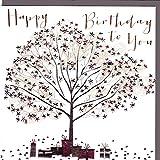Belly Button Designs - hochwertige Geburtstagskarte, Glückwunschkarte oder Einladungskarte, auch Geschenkgutschein oder Geldgeschenk mit Folienprägung und Kristallen BB330