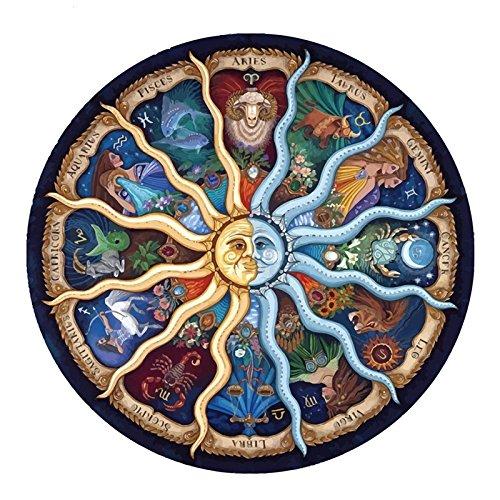 kit mosaico mandala horoscopo piedras cuentas de cristal puzzle cristales multicolor para manualidades, regalos tardes invierno relax, terapias relajantes. antistress regalo de 50 x 50 cm. de OPEN BUY