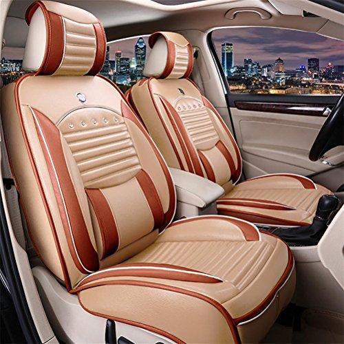 DIELIAN (Vorne + hinten) spezielle Leder Auto Sitzbezüge , beige (Cabrio Autositz 2015)