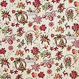 Fabulous Fabrics Jacquardstoff Gobelin Weihnachtsmotive –