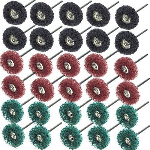 Saver 30pcs 25mm Durchmesser Schleifscheiben Buffing Polierscheibe Set für Drehwerkzeug