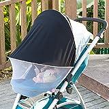 2-in-1-Baby Buggy Sonnenschutz UV faltbar Moskitonetz Universal Passform für Kinderwagen