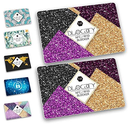 Blockify RFID/NFC Blocker - Ultradünn! Strahlungsfrei! 2X Schutz für EC-Karte, Kreditkarte, Personalausweis, UVM. - Blockify (Amazing Sparkle)