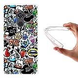 WoowCase Vodafone Smart Platinum 7 Hülle, Handyhülle Silikon für [ Vodafone Smart Platinum 7 ] Coloriertes Graffiti Handytasche Handy Cover Case Schutzhülle Flexible TPU - Transparent