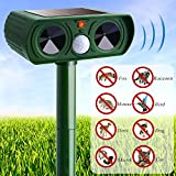 Motion Activated Repellent, Standie Solar Powered Pest Repeller Solar Pest Repeller Ultrasonic Bird Repeller Ultrasonic Animal Repeller Ultrasonic Pest Repellent Waterproof Pir Sensor Repeller Farm Garden Yard Repellent For Cats, Dogs, Birds And Skunks An