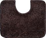 Grund Badteppich 32 mm 100% Polyacryl, ultra soft, rutschfest, ÖKO-TEX-zertifiziert, 5 Jahre Garantie, LEX, WC-Vorlage m.A. 50x60 cm, mocca