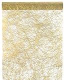 Tischläufer Tischband Vlies Gold 25 Meter x 30cm Rolle Dekostoff Tischdekoration Palandi®