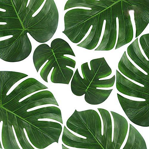 JER 10 Stück Simulation Monstera Prime, künstliche Palm, Blätter, Dschungel-Beach, Dekoration, wiederverwendbar, Tropische Blätter