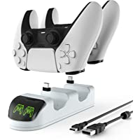 ETPARK Ricarica Controller PS5, Base di Ricarica per Controller con Indicatore LED, PS5 Dual Controller Caricatore con 2…