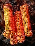 Oranges Polypropylen Seil, Polypropylenseil 4 - 16 mm,Bootsleine,Tau,Ankerleine,Festmacher,Allzweckseil, Segeltauwerk, Mehrzweckseil, Bootstau, Strick,Rope,Ersatzseil, Reparaturseil,Festmacherleine,Schot (8 mm)