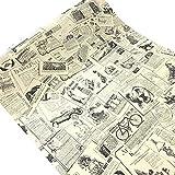 WDragon Wandaufkleber/Tapete, selbstklebend, Vintage-Zeitungskontakt, 45 x 300 cm