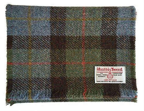 Echt Harris Tweed Wolle Schal in blau
