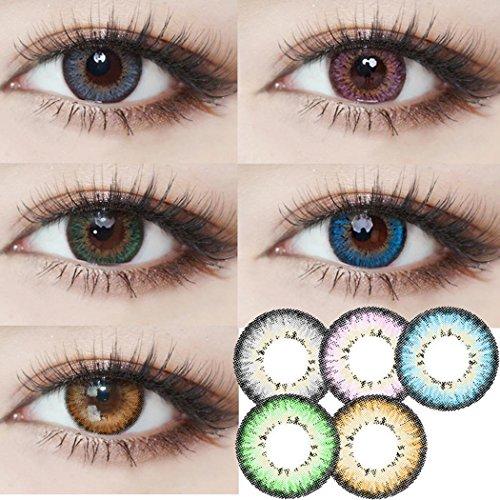 Farbige Kontaktlinsen Tageslinsen Weich Natürliche ohne Stärke verschiedene Farben