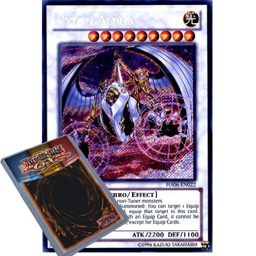 Yu Gi-Oh: ha06-en022 1. Ed Vylon Alpha Secret Rare Karte – (Hidden Arsenal 6 Omega Xyz Yu-Gi-Oh. Single Karte)