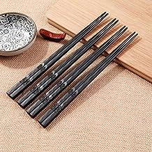 Antideslizante no tóxico palillos saludable de aleación de lujo vajilla reutilizable Chop Sticks valor regalo para