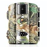 Jagd-, Outdoor berwachungs-und Wildkamera von Vizzlema mit 12MP HD Infrarote 20m Tag- / Nachtsicht, 2.4' LCD Display und 8GB SD Karte