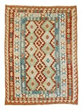 Nain Trading Kelim Afghan 199x147 Orientteppich Teppich Braun/Orange Handgewebt Afghanistan
