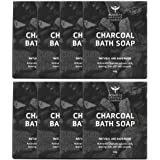 Bombay Shaving Company Activated Bamboo Charcoal Bath Soap (Pack of 8) for Deep Cleaning and Anti-Pollution Effect
