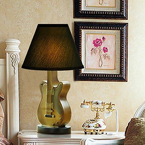 Home experience- Guitare Lampe Chambre d'enfants Originalité Simple Chambre Lampe de chevet Étude Décorer Lecture Lumière Interrupteur à bouton (Couleur : #/001)