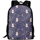 sd4r5y3hg Sleeping Fox - Lavender School Backpack Bookbag for College Travel Hiking Fit Laptop Water Resistant