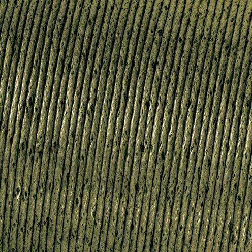 Olive Cord (Kumihimo 2mm x 6m Baumwolle gewachst Cord, Olive Grün)