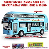 #7: Toy-Station - Die CAST Metal Play Set - Perfect Toy Set for Kids (Double Decker London Bus - Die CAST Metal with Lights & Sound - Blue)