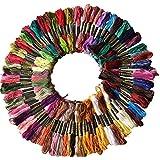 Hrph 100 Piezas DMC hilo de algodón bordado de hilo de coser de las madejas arte del tejido