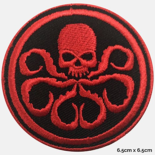Hydra Rot Skull Logo Captain America Embroidered Iron on/Sew auf Logo-Badge Patch DC Comics T-Shirts Kleid (Dc Comics Kleid)