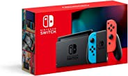 Nintendo Switch Extended Battery Life with Neon Blue and Neon Red Joy‑Con (2019)