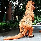 Aufblasbare Dinosaurier T-Rex Kostüm – Adult eine Größe Kostüm Halloween Outfit – mit Batterie betriebenen Ventilator - 6
