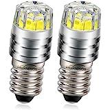 Ruiandsion 2 stuks 2 W COB 6 V E10 LED reservelamp voor zaklamp, wit