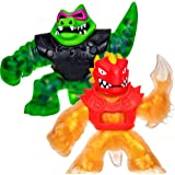 Heroes of Goo Jit Zu Coffret Duel avec Attaque Jet d'Eau - Coffret de 2 Figurines Dont Une dorée Blazagon vs Rockjaw 41053 Mu
