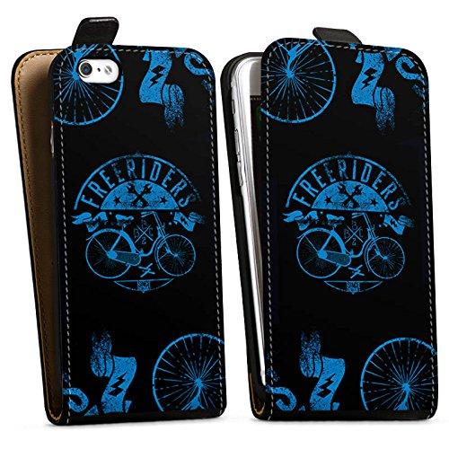 Apple iPhone X Silikon Hülle Case Schutzhülle Fahrrad Freiheit Spruch Downflip Tasche schwarz