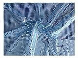 Fabrics-City % BABYBLAU HOCHWERTIG PAILETTEN STOFF PAILLETTENSTOFF 6MM STOFFE, 2588