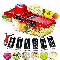 Byetoo, Gemüsehobel, Schneidhobel für Lebensmittel - Rot