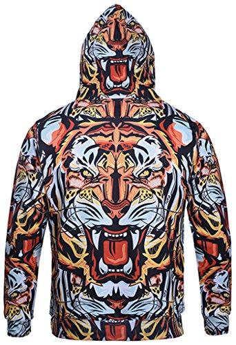 Pizoff Unisex Hip Hop Sweatshirts druck Kapuzenpullover mit Bunt 3D Digital Print Y1760-39