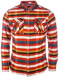 Chemise Fly53 avec boutons pour homme en rouge