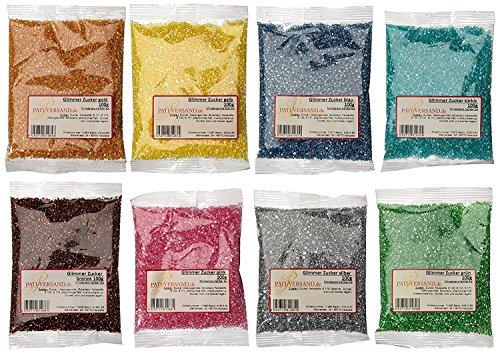 Pati-Versand Glimmerzucker 8 x 100 g, 1er Pack (1 x 800 g)