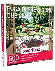 smartbox - Cofanetto Regalo - Fuga di Tre Giorni, Due CENE - 600 soggiorni in agriturismi e Hotel 3*