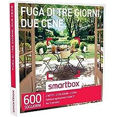 Idea Regalo - smartbox - Cofanetto Regalo - Fuga di Tre Giorni, Due CENE - 600 soggiorni in agriturismi e Hotel 3*
