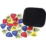 Rayzm Guitar Picks Médiators - Delrin Médiators 50pcs pour Guitare Basse 0,49/,58/,71/,89/,98/1,12mm