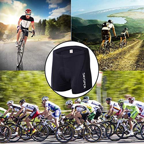 SKYSPER Pantalon Calzoncillos Ropa Interior Ciclismo para Mujer Culote Pantalones Cortos Deportivos Gel 3D Acolchada para MTB Ciclismo Bicicleta al Aire Libre Transpirable Secado R/ápido