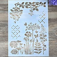 Flybuild® Fashion Printing Drawing Airbrush Flower Painting Stencil DIY Craft Cards Scrapbooking Album Decor (I)