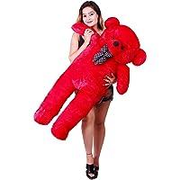 Toys Guru Teddy Bear for Girls, Panda Teddy Bears, tady Bears Toys Big Size Latest(4 feet 122cm) (Red)